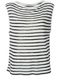 T By Alexander Wang Striped Sleeveless Boatneck - Lyst
