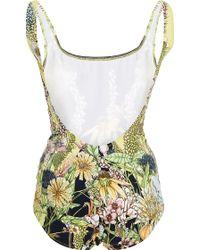 Swash London - Flora Meadow Iris Swimsuit - Lyst