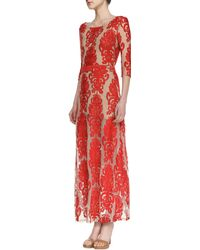 For Love & Lemons San Marcos Openback Lace Maxi Dress - Lyst