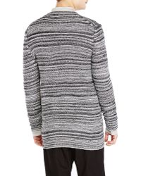 Silent - Damir Doma - V-Neck Chunky Marled Knit Cardigan - Lyst