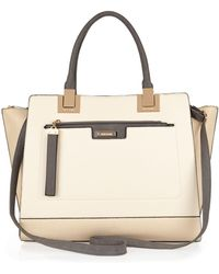 River Island Cream Large Two In One Tote Bag - Lyst