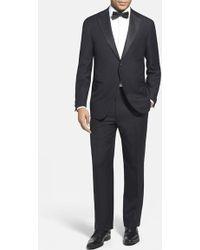 Corneliani Trim Fit Wool Tuxedo black - Lyst