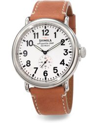 Shinola Runwell Stainless Steel Watch - Lyst