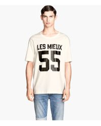H&M T-shirt in Cotton - Lyst