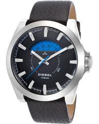 Diesel Men'S Black Genuine Leather Black Dial - Lyst
