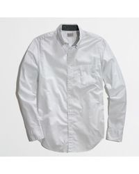 J.Crew Factory Washed Shirt in Navy Pindot - Lyst