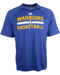 Adidas Mens Golden State Warriors Climalite Practice T-shirt - Lyst