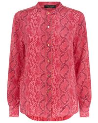 Juicy Couture Python Print Silk Blouse - Lyst