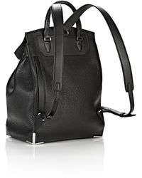 Alexander Wang | Prisma Backpack In Pebbled Black With Rhodium | Lyst