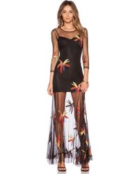 For Love & Lemons Birds Of Paradise Maxi Dress - Lyst