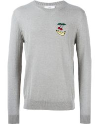 AMI | Cherry And Banana Patch Sweater | Lyst