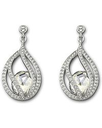 Swarovski Megan Crystal Drop Earrings silver - Lyst