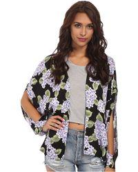 MINKPINK Hydrangea Kimono multicolor - Lyst