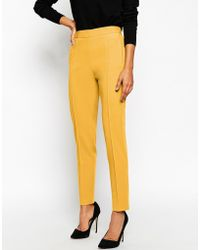 Asos Pants With High Waist - Lyst
