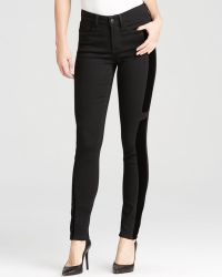Nydj Alina Velveteen Blocked Legging Jeans in Black - Lyst