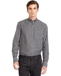 Kenneth Cole Modern Fit Tattersall Check Sport Shirt - Lyst