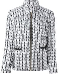 Moncler Gamme Rouge Printed Quilted Jacket - Lyst