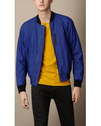 Burberry Nylon Bomber Jacket - Lyst
