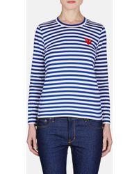 Comme des Garçons   Red Play Striped T-shirt   Lyst