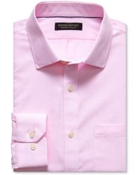 Banana Republic Classic Fit Non Iron Striped Shirt Pink - Lyst