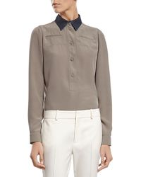 Gucci Silk Crepe De Chine Shirt - Lyst