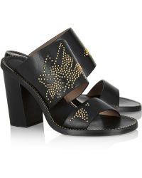 Chloé Studded Leather Sandals - Lyst