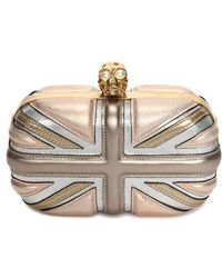 Alexander McQueen Women'S 'Britannia' Union Jack Box Clutch - Metallic - Lyst