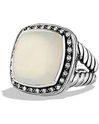 David Yurman Albion Ring With Diamonds, 17Mm Gemstone - Lyst