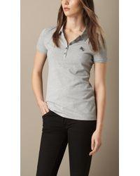 Burberry Cotton Piqué Polo Shirt - Lyst