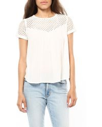 The Hanger | Moonglow Lace Lattice Blouse | Lyst