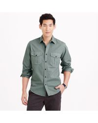 J.Crew Blue Field Shirt - Lyst