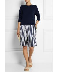 Thakoon Addition - Striped Silk Blend Shorts - Lyst