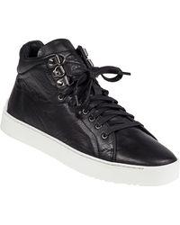 Rag & Bone Kent Black Leather High Top black - Lyst