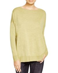 Eileen Fisher | Merino Wool Boat Neck Sweater | Lyst