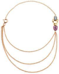 Daniela Villegas - 18k Yellow Gold Sapphire & Emerald Khepri Bracelet - Lyst