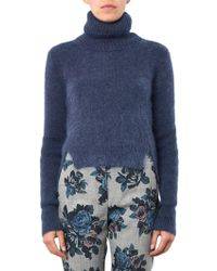 Band of Outsiders | Roll-neck Cropped Jumper | Lyst