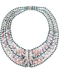 Elizabeth Cole Crystal Necklace - Lyst