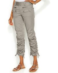 Inc International Concepts Petite Ruched-Cuff Cargo Pants - Lyst