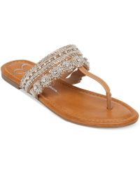 Jessica Simpson Roelle Flat Thong Sandals - Lyst