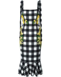 Dolce & Gabbana Checked Acacia Dress - Lyst