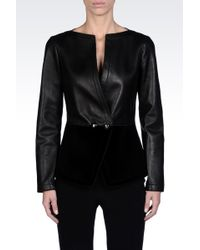 Emporio Armani Double Breasted Jacket - Lyst