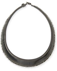 R.j. Graziano - Collar Necklace With Crystals - Lyst