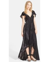 Zadig & Voltaire 'Reino' Graphic Print High/Low Dress - Lyst
