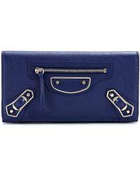 Balenciaga Classic Metallic Edge Money Leather Wallet - Lyst