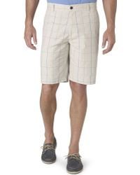 Dockers Flat Front Checked Plaid Shorts - Lyst