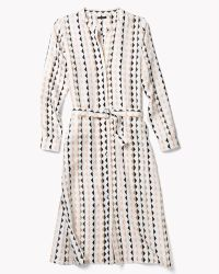 Theory Linigole Dress In Diamond Print Twill - Lyst