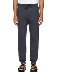 McQ by Alexander McQueen Midnight Blue Swallow Embroidered Sweatpants - Lyst