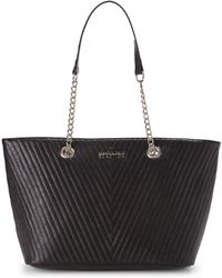 Kenneth Cole Reaction Black Chevy Chain Tote - Lyst