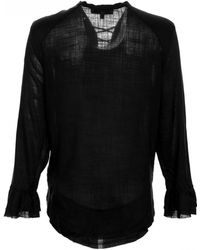 IRO | Finley Lace Up Peasant Blouse | Lyst