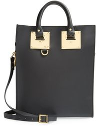 Sophie Hulme 'Mini' Leather Tote - Lyst
